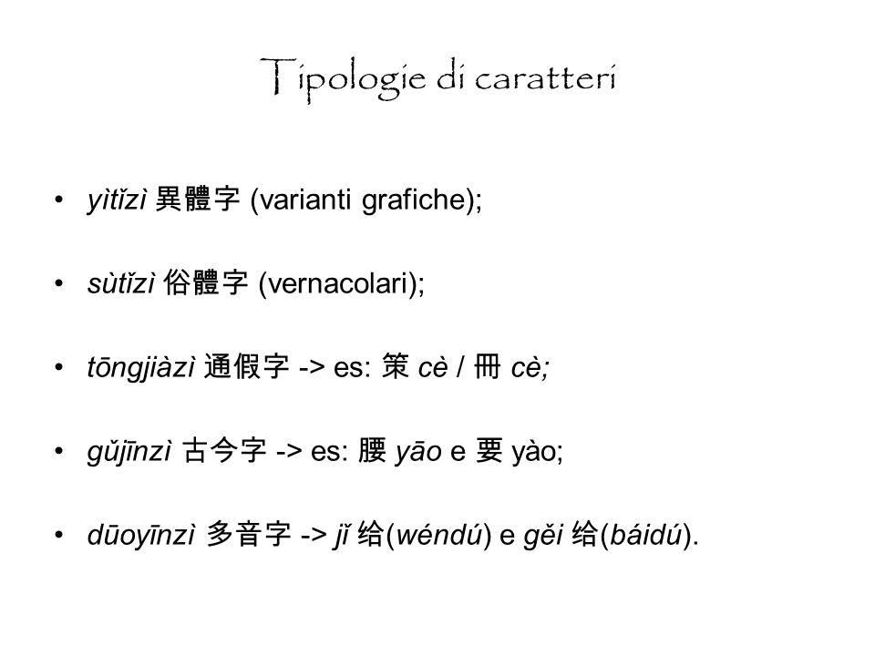 Tipologie di caratteri