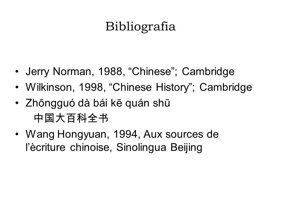 Bibliografia Jerry Norman, 1988, Chinese ; Cambridge