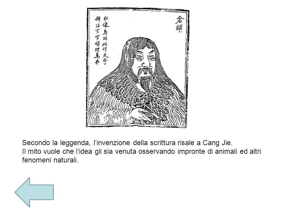 Secondo la leggenda, l'invenzione della scrittura risale a Cang Jie.