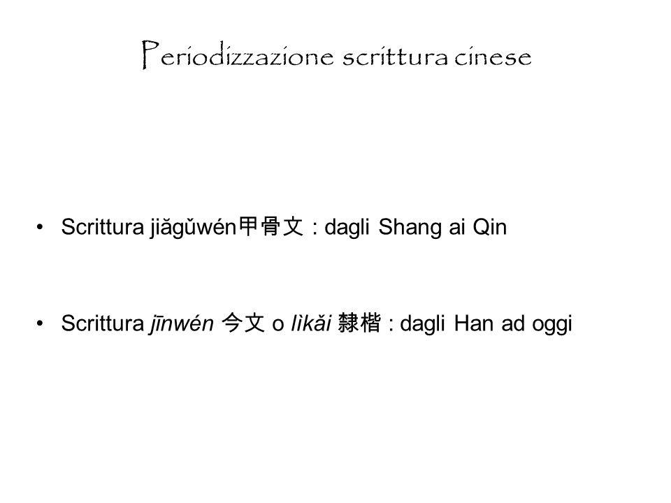 Periodizzazione scrittura cinese