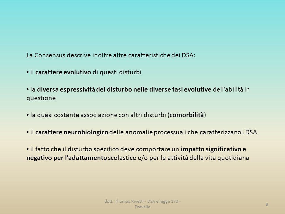 dott. Thomas Rivetti - DSA e legge 170 - Prevalle