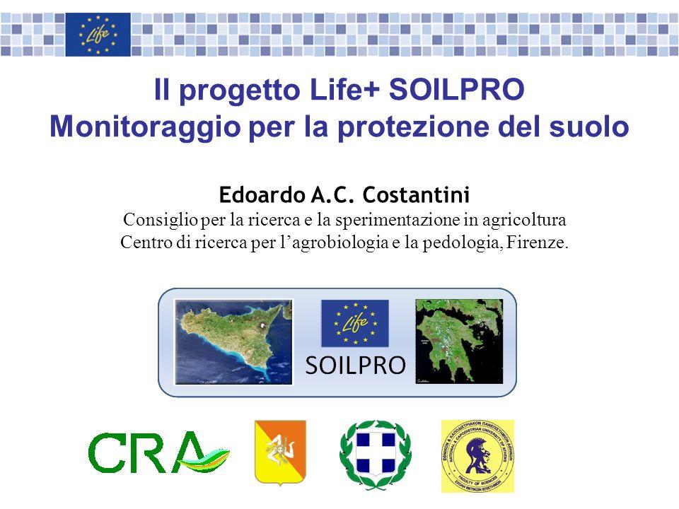 Il progetto Life+ SOILPRO Monitoraggio per la protezione del suolo