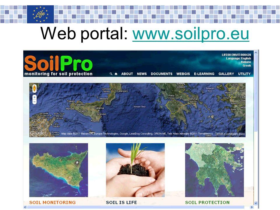 Web portal: www.soilpro.eu