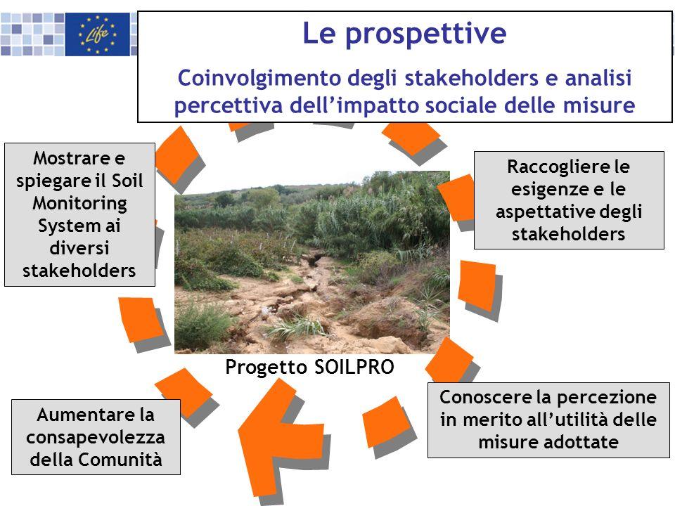 Le prospettive Coinvolgimento degli stakeholders e analisi percettiva dell'impatto sociale delle misure.