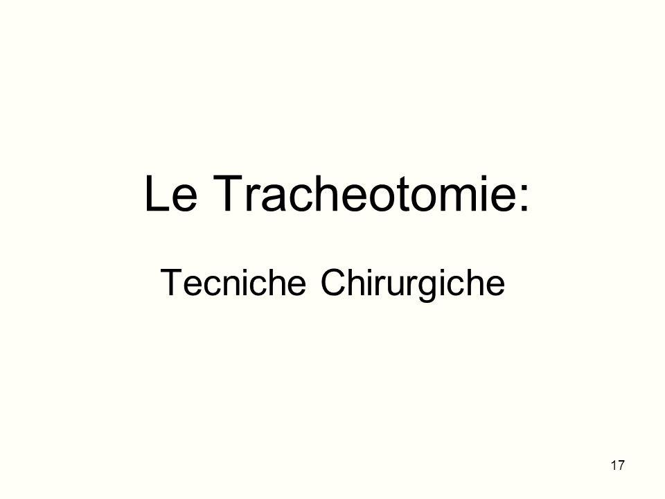 Le Tracheotomie: Tecniche Chirurgiche
