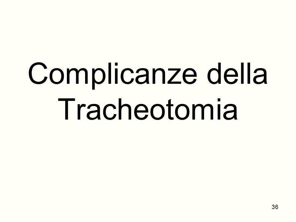 Complicanze della Tracheotomia