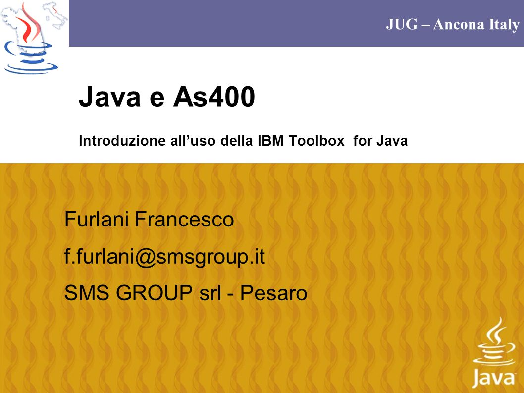 Java e As400 Introduzione all'uso della IBM Toolbox for Java