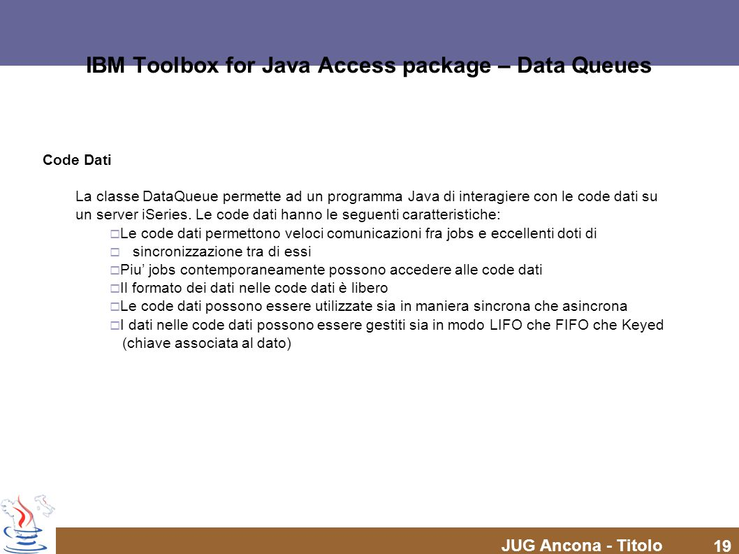 IBM Toolbox for Java Access package – Data Queues