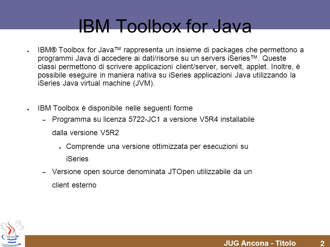 IBM Toolbox for Java