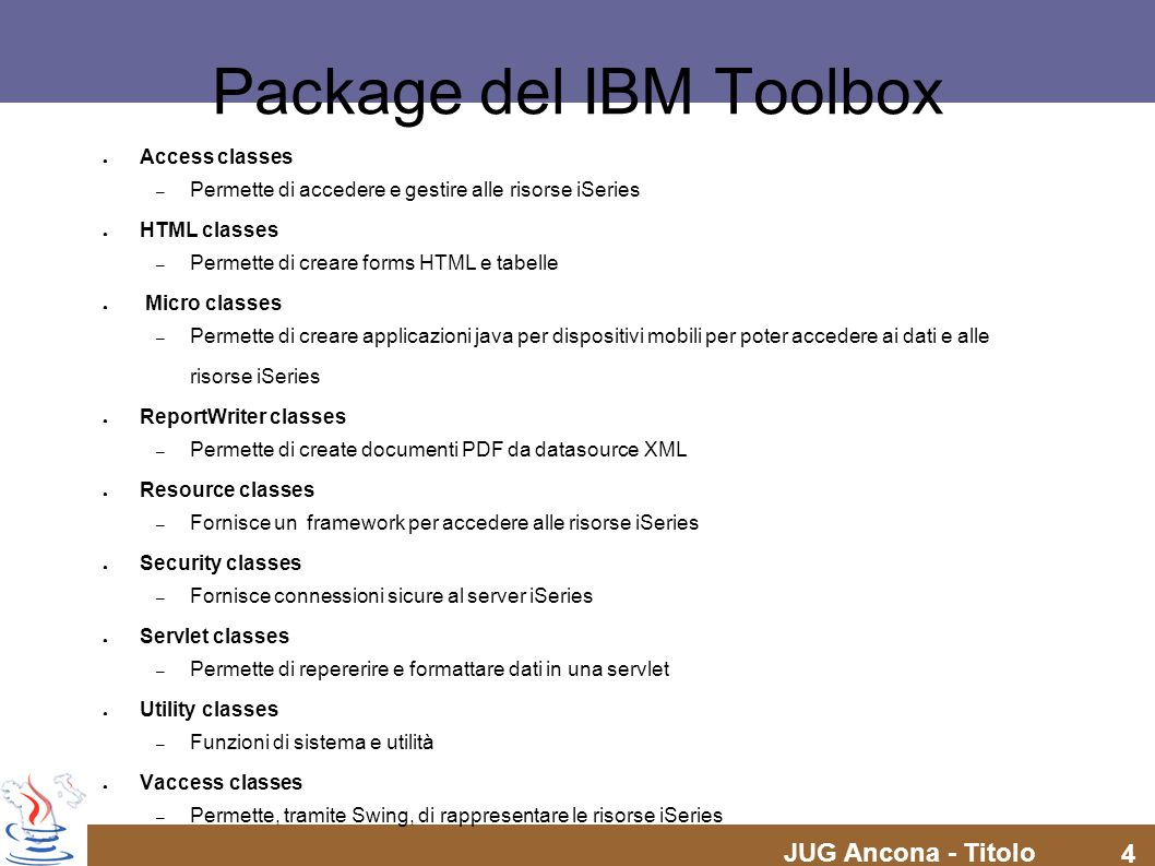 Package del IBM Toolbox