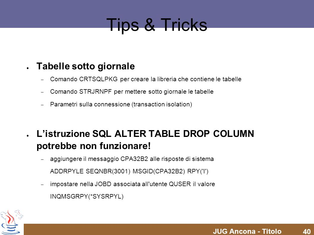 Tips & Tricks Tabelle sotto giornale