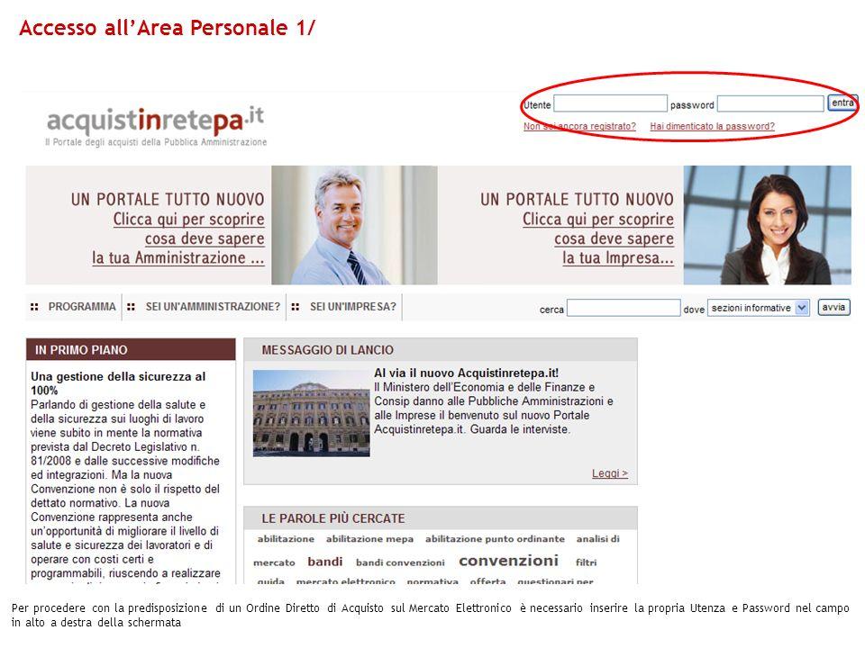 Accesso all'Area Personale 1/