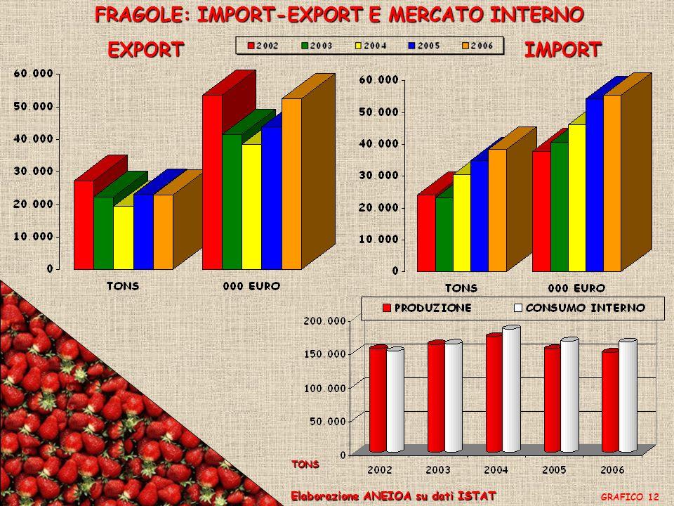 FRAGOLE: IMPORT-EXPORT E MERCATO INTERNO
