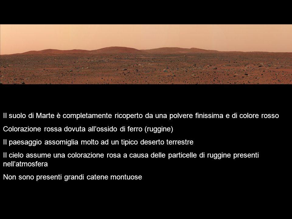 Il suolo di Marte è completamente ricoperto da una polvere finissima e di colore rosso
