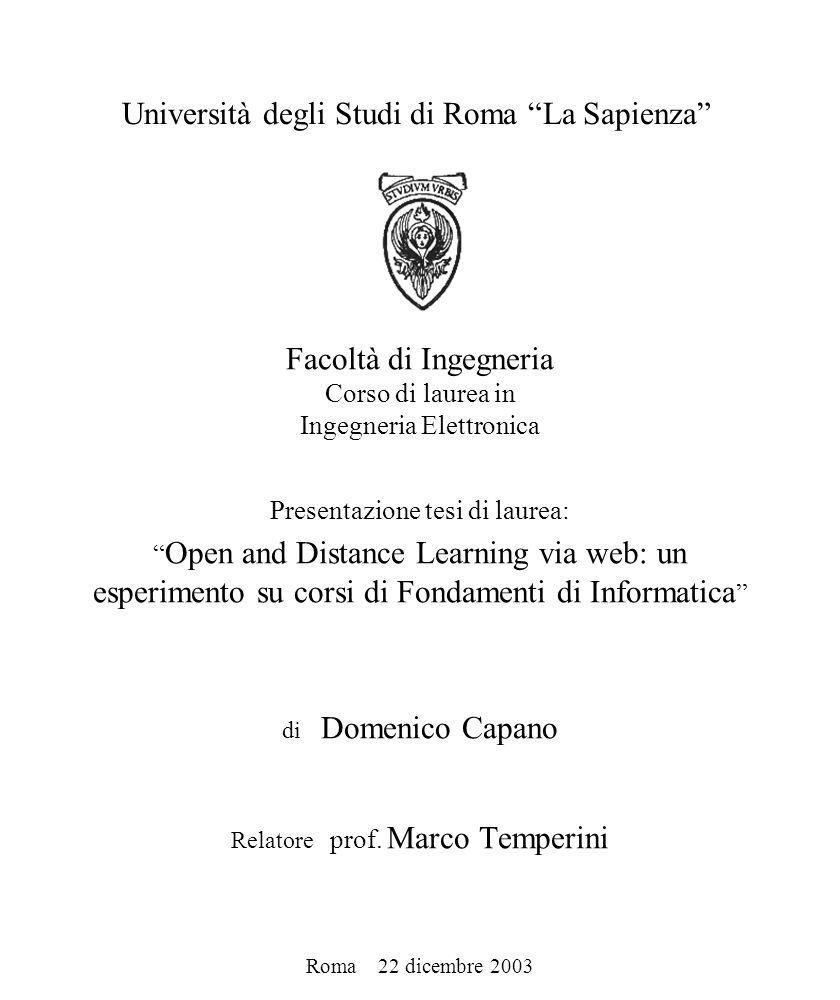 Università degli Studi di Roma La Sapienza