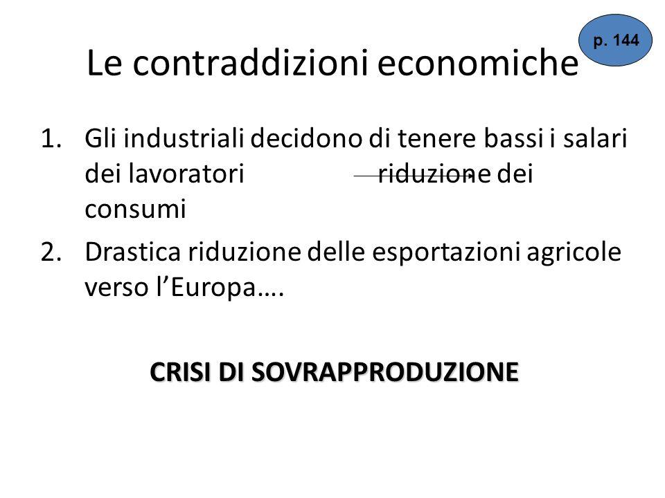 Le contraddizioni economiche