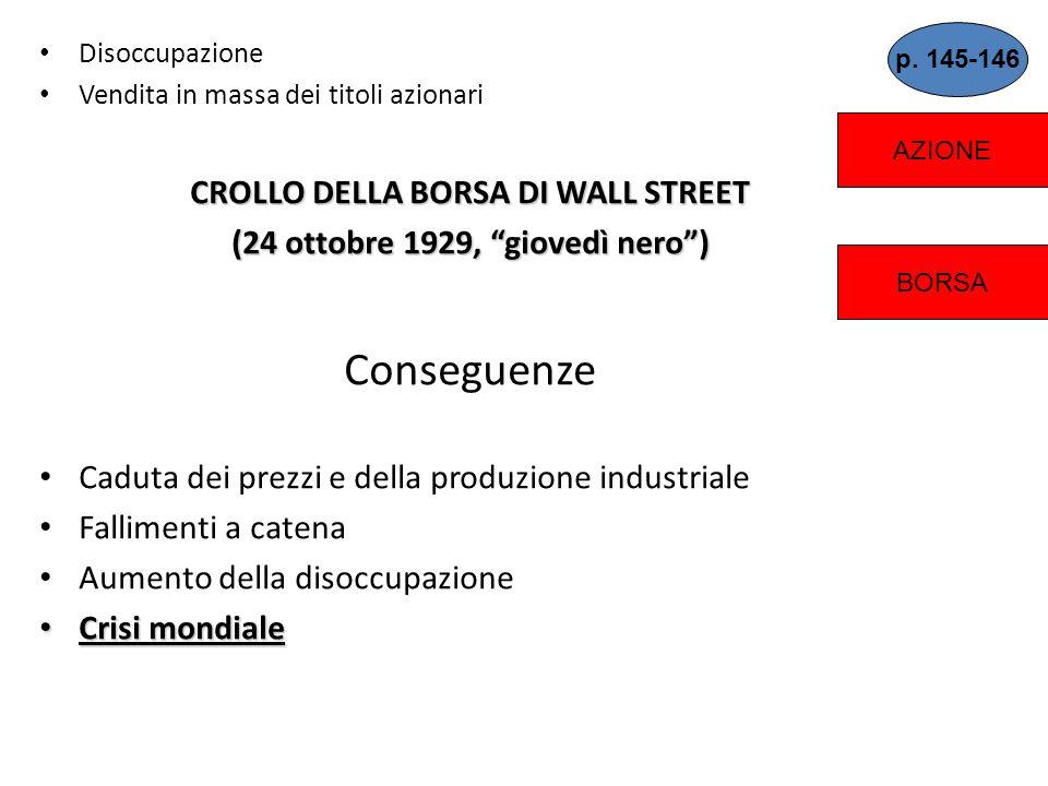 CROLLO DELLA BORSA DI WALL STREET (24 ottobre 1929, giovedì nero )