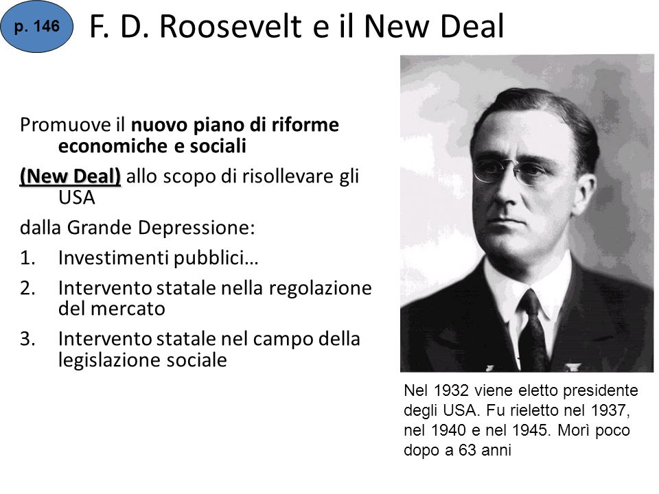 F. D. Roosevelt e il New Deal