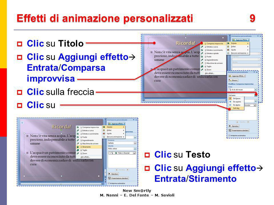 Effetti di animazione personalizzati 9