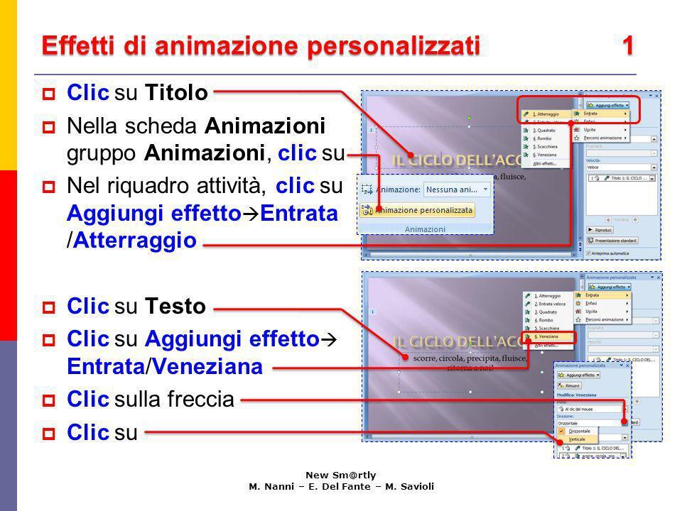 Effetti di animazione personalizzati 1