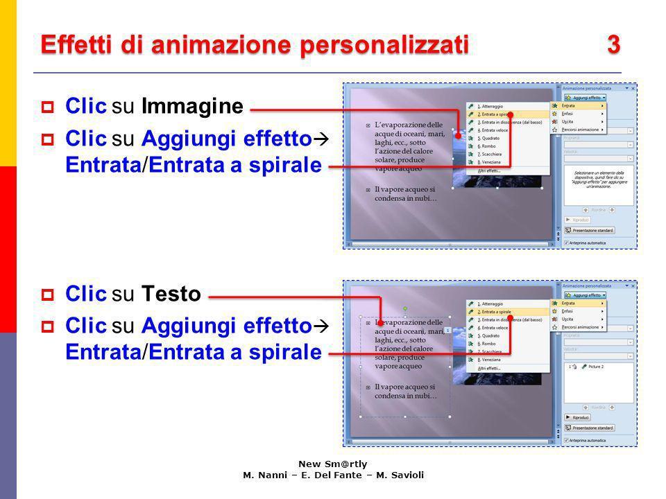 Effetti di animazione personalizzati 3