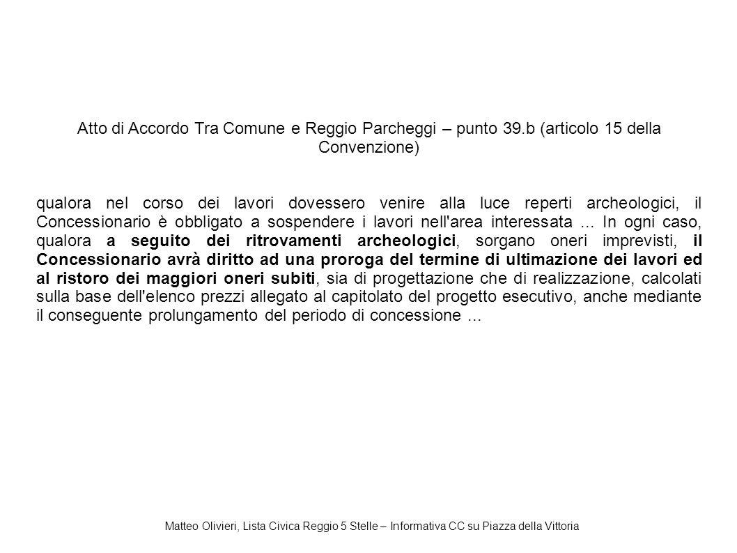Atto di Accordo Tra Comune e Reggio Parcheggi – punto 39