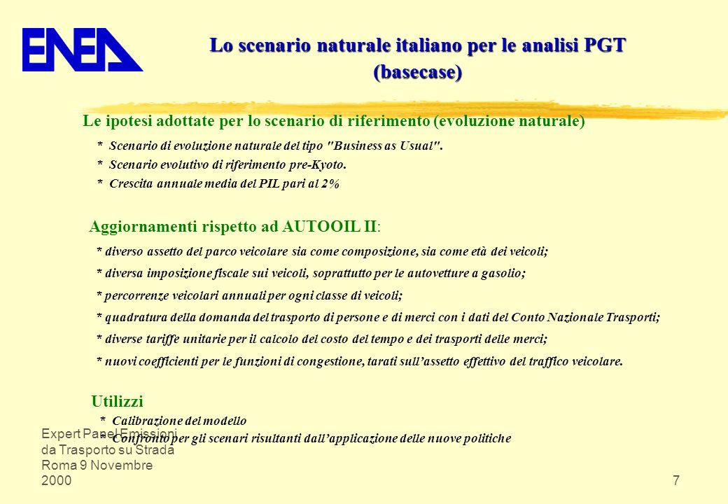 Lo scenario naturale italiano per le analisi PGT