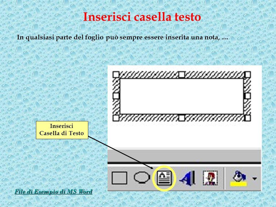 Inserisci casella testo File di Esempio di MS Word
