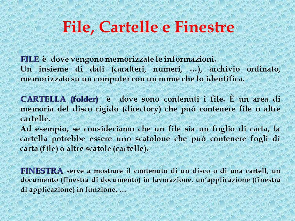 File, Cartelle e Finestre