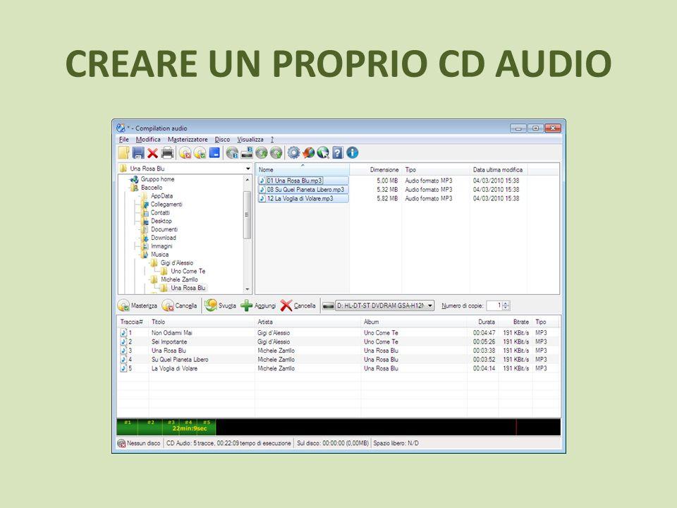 CREARE UN PROPRIO CD AUDIO