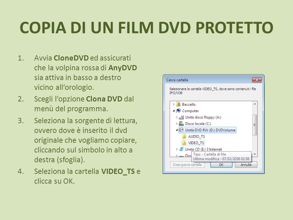 COPIA DI UN FILM DVD PROTETTO