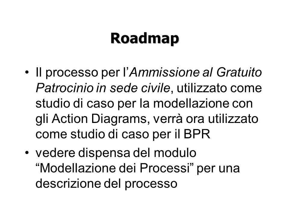Roadmap