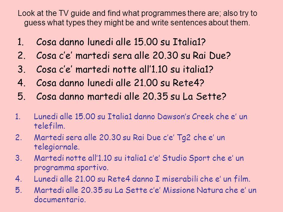 Cosa danno lunedi alle 15.00 su Italia1