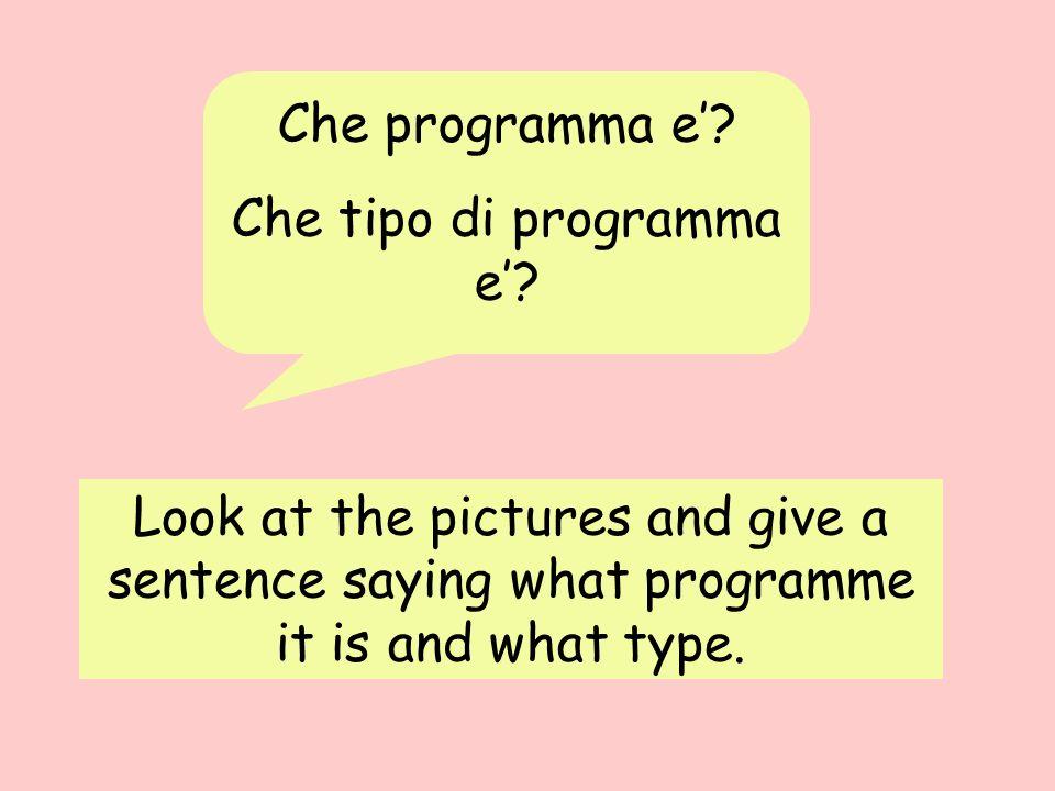 Che tipo di programma e'