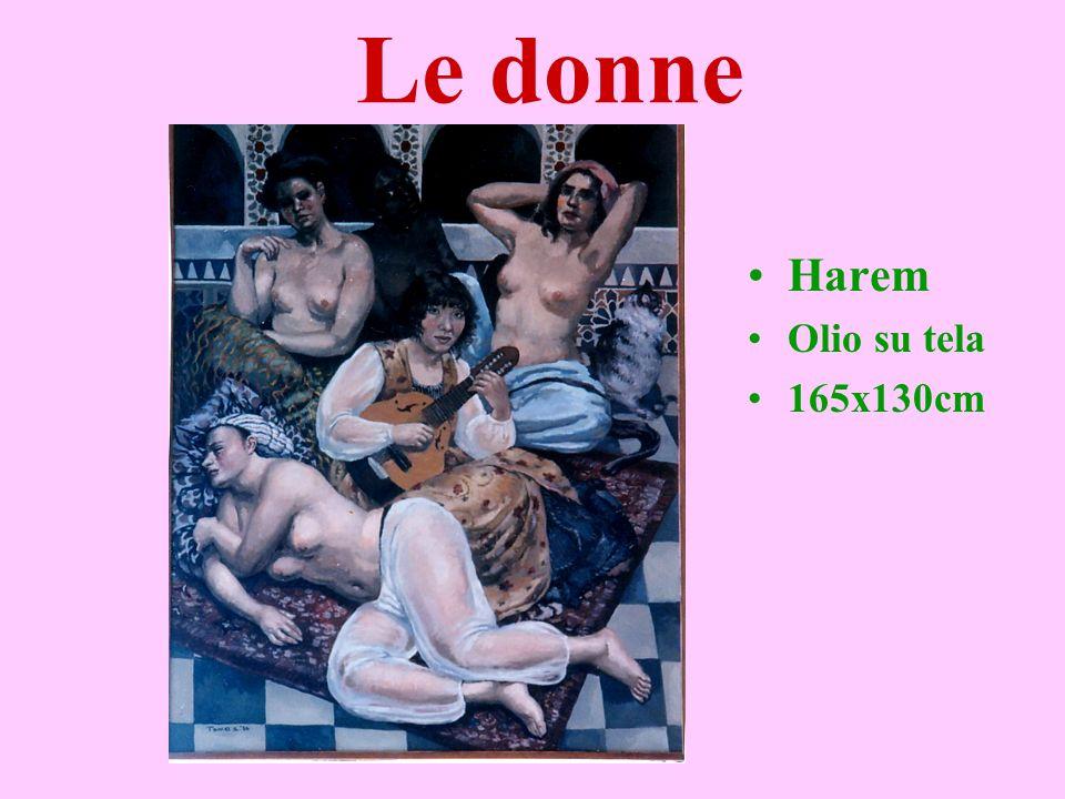 Le donne Harem Olio su tela 165x130cm yuko tamei