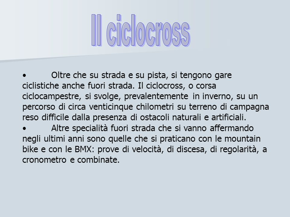 Il ciclocross