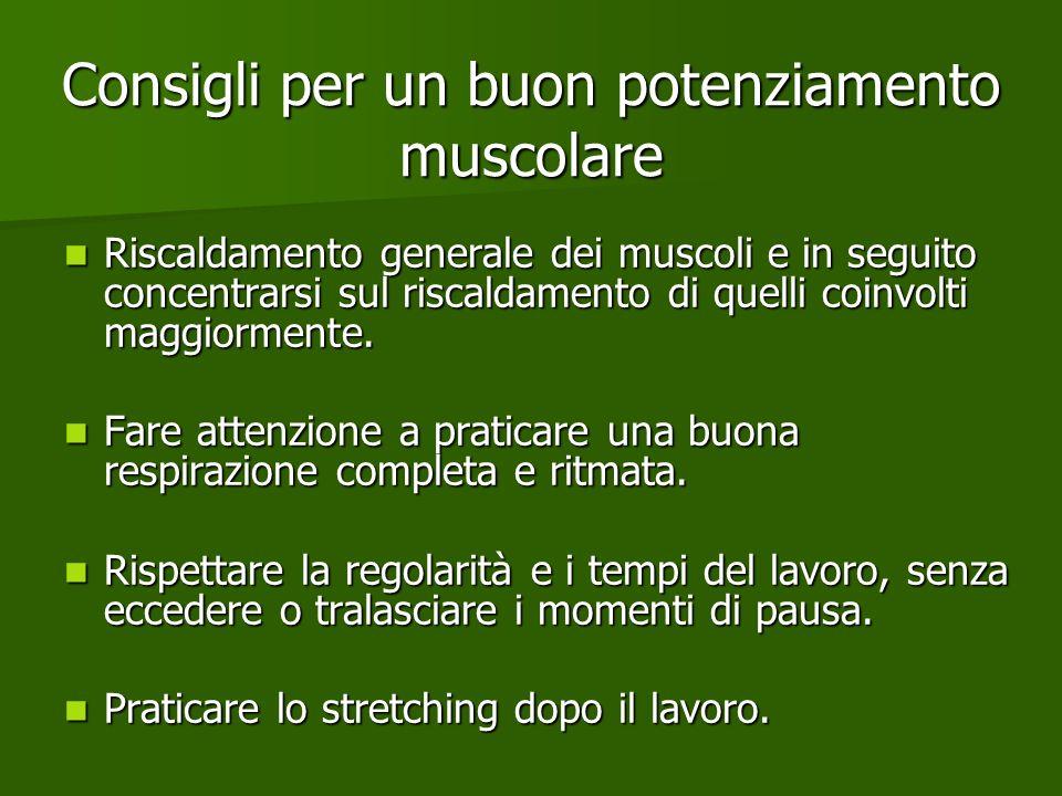 Consigli per un buon potenziamento muscolare