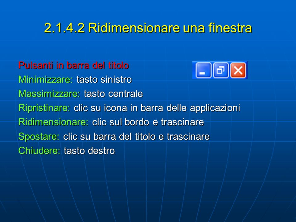 2.1.4.2 Ridimensionare una finestra
