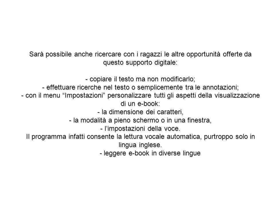 - leggere e-book in diverse lingue