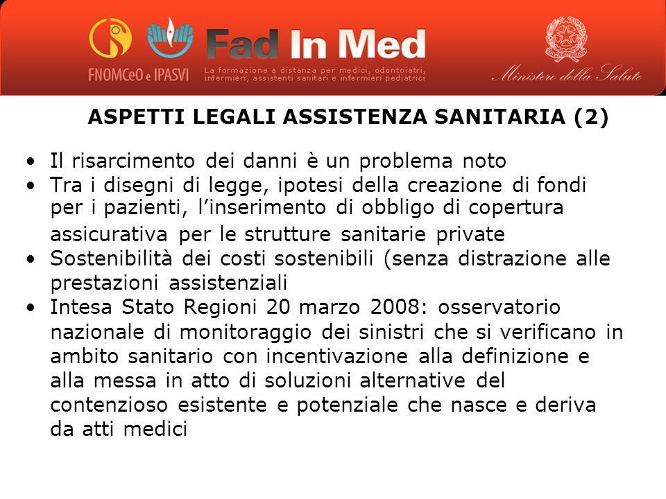 ASPETTI LEGALI ASSISTENZA SANITARIA (2)
