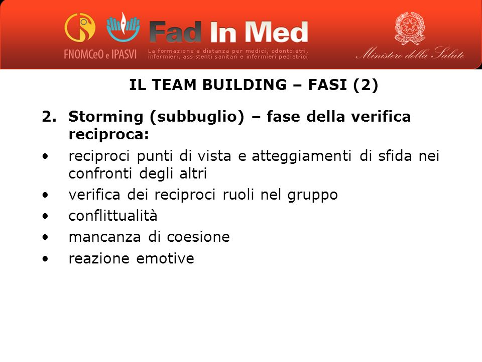 IL TEAM BUILDING – FASI (2)