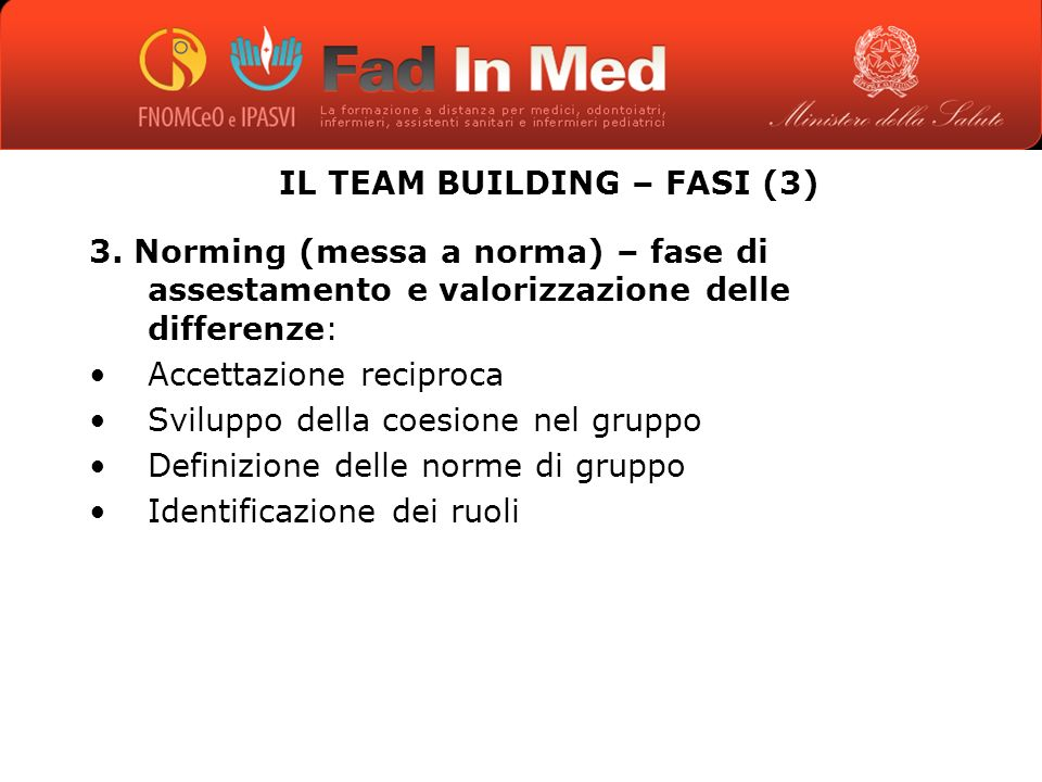 IL TEAM BUILDING – FASI (3)
