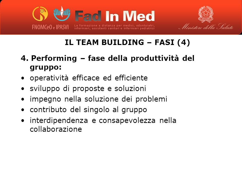 IL TEAM BUILDING – FASI (4)