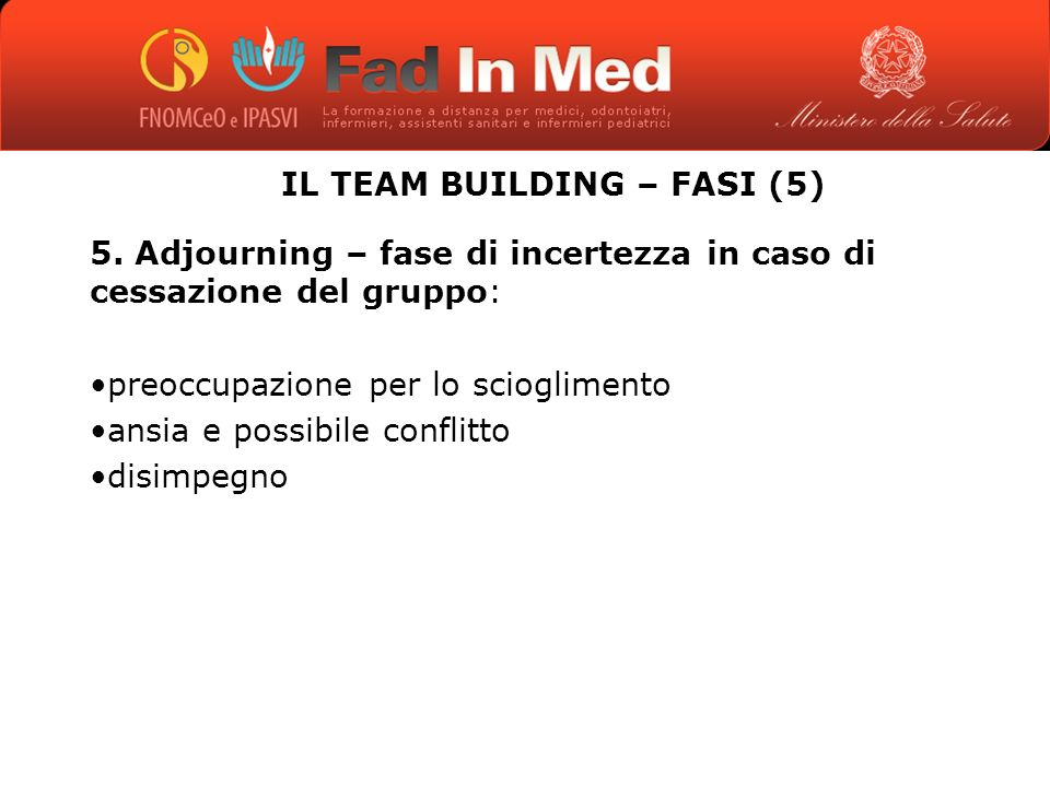 IL TEAM BUILDING – FASI (5)