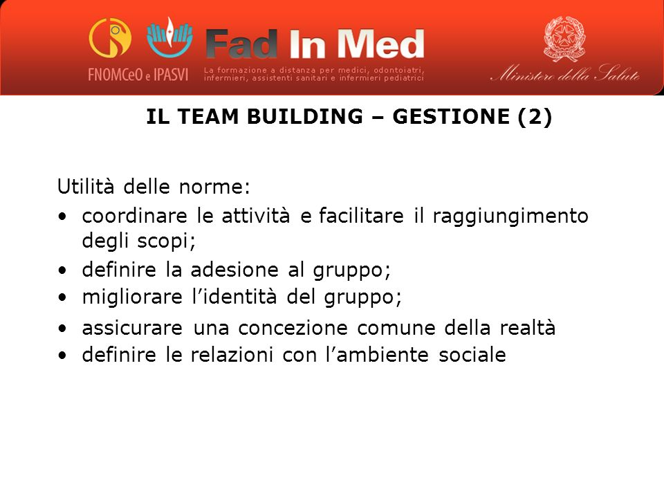 IL TEAM BUILDING – GESTIONE (2)