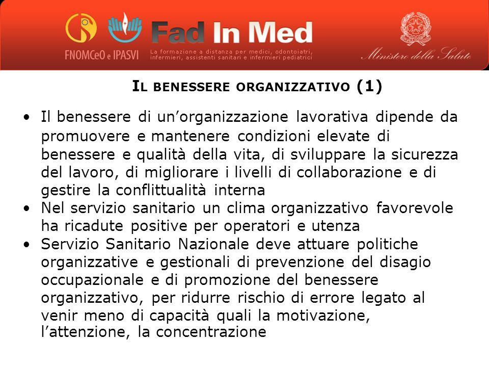 Il benessere organizzativo (1)