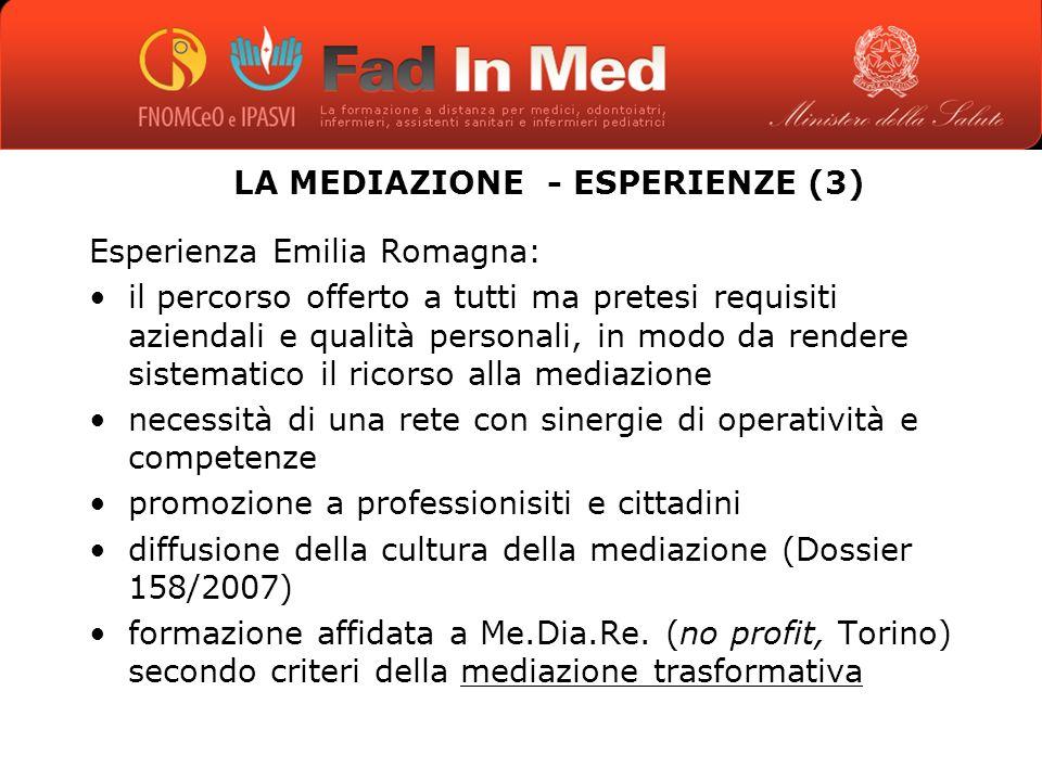 LA MEDIAZIONE - ESPERIENZE (3)