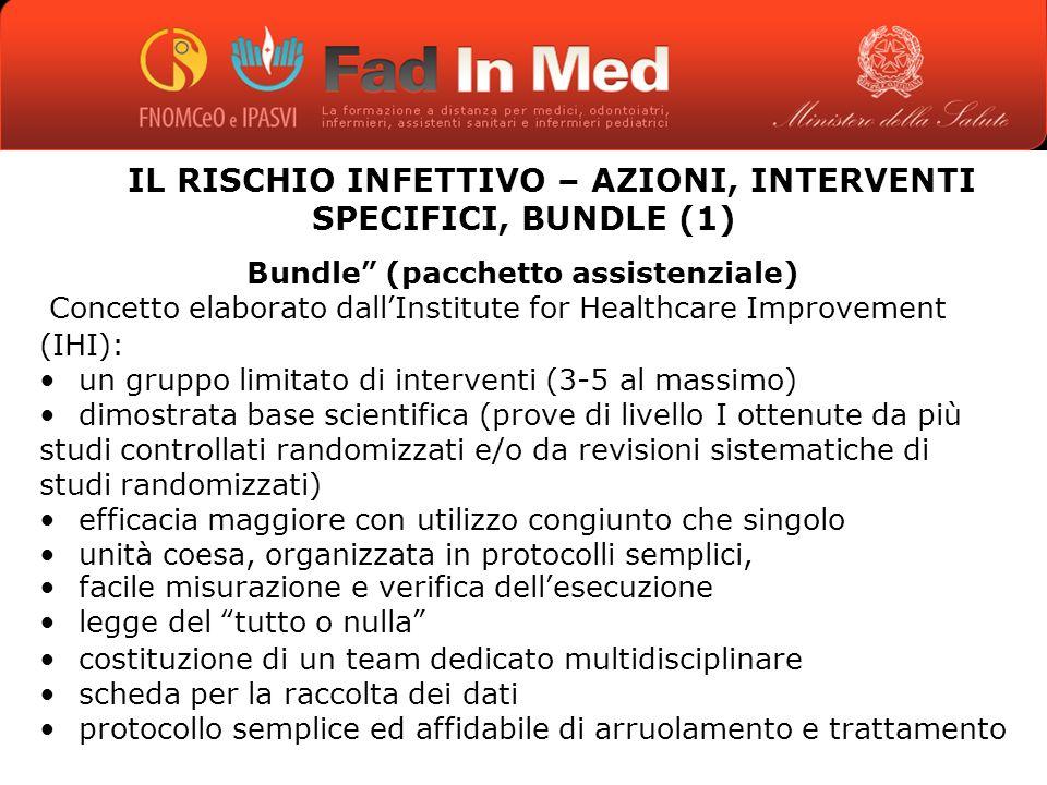 IL RISCHIO INFETTIVO – AZIONI, INTERVENTI SPECIFICI, BUNDLE (1)