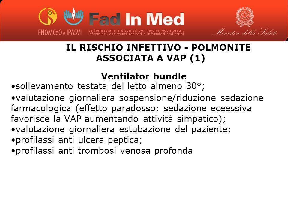 IL RISCHIO INFETTIVO - POLMONITE ASSOCIATA A VAP (1)