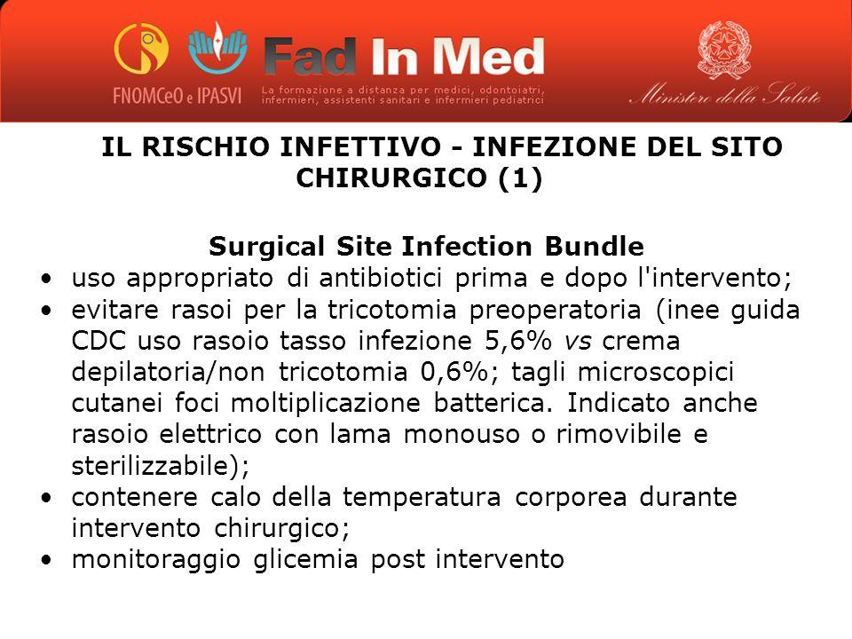 IL RISCHIO INFETTIVO - INFEZIONE DEL SITO CHIRURGICO (1)